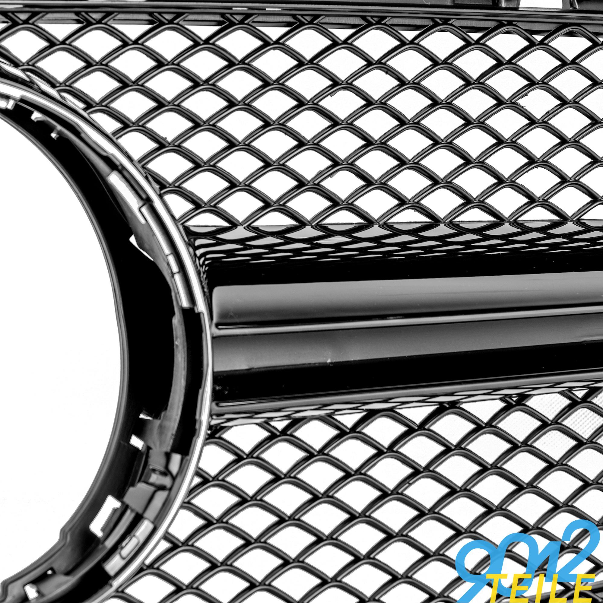 für Mercedes AMG LOOK Grill A-KLASSE W176 12-15 GLANZ SCHWARZ Kühlgrill Front